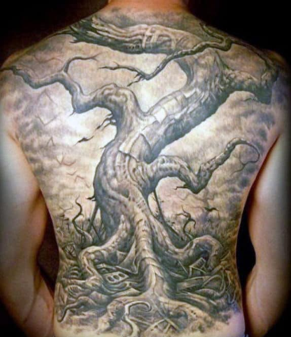 50 Oak Tree Tattoo Designs For Men Leaves And Acorns Ideas And Designs