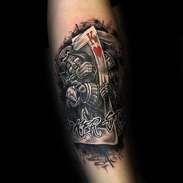 90 Playing Card Tattoos For Men Lucky Design Ideas Ideas And Designs