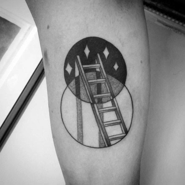 40 Ladder Tattoo Ideas For Men Rung Designs Ideas And Designs