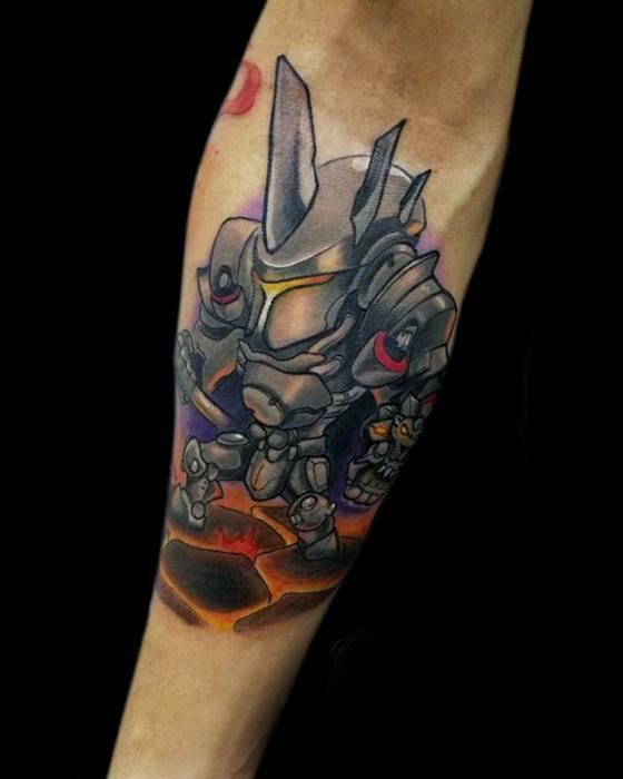 40 Overwatch Tattoo Designs For Men Video Game Ink Ideas Ideas And Designs