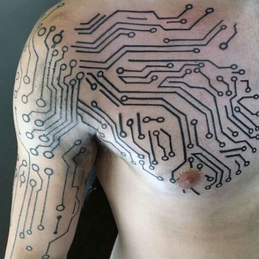 60 Circuit Board Tattoo Designs For Men Electronic Ink Ideas Ideas And Designs