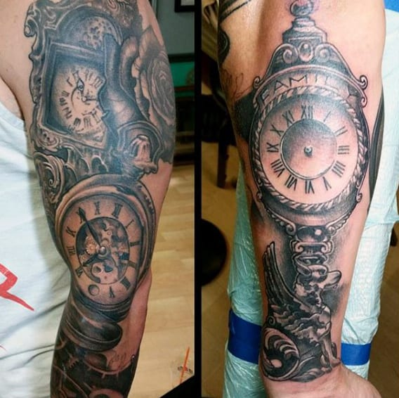 80 Clock Tattoo Designs For Men Timeless Ink Ideas Ideas And Designs
