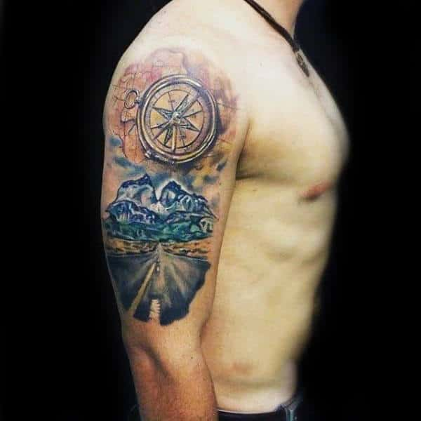 75 Travel Tattoos For Men Adventure Design Ideas Ideas And Designs