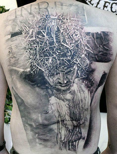 40 Jesus Back Tattoo Designs For Men Religious Ink Ideas Ideas And Designs