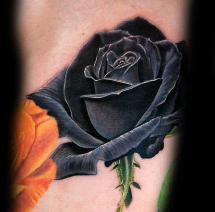 80 Black Rose Tattoo Designs For Men Dark Ink Ideas Ideas And Designs