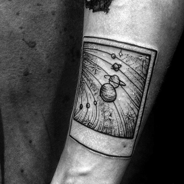 40 Solar System Tattoo Designs For Men Astronomy Ink Ideas And Designs