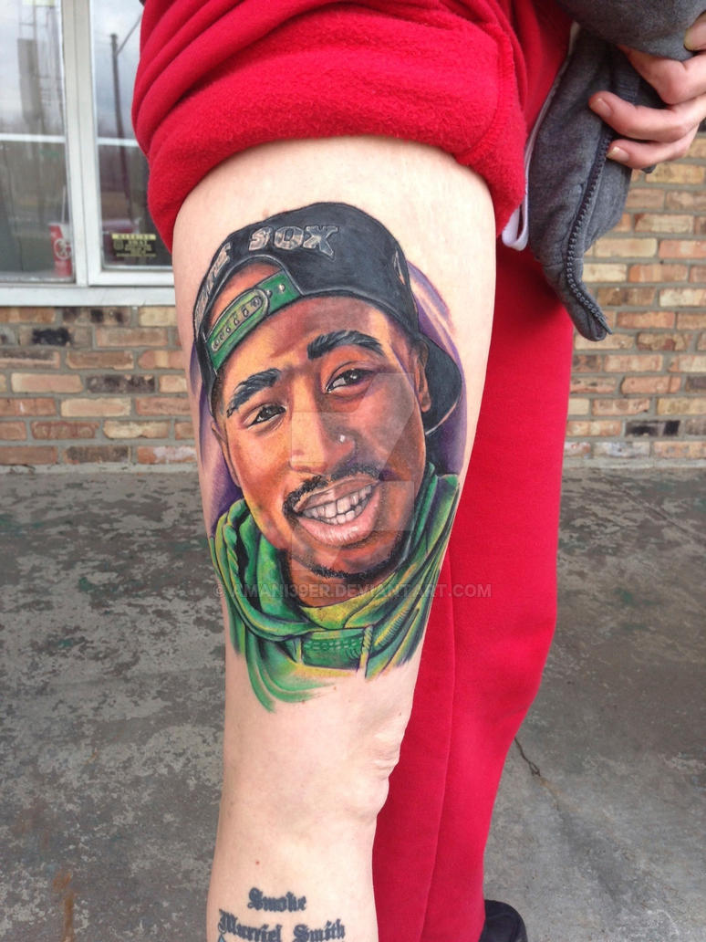 2Pac Tattoo By Amani Tre Niner By Amani39Er On Deviantart Ideas And Designs