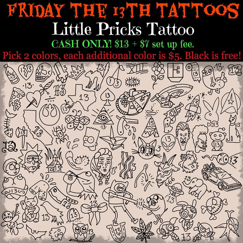 Tattoo Nerd Friday The 13Th Tattoo Specials What You Ideas And Designs