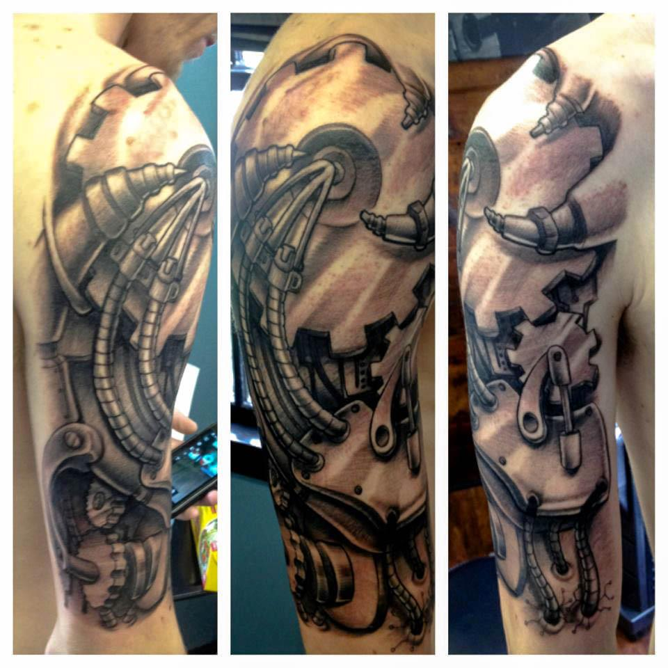 Sleeve Tattoos 3D Biomechanical Sleeve Tattoos Gallery Ideas And Designs