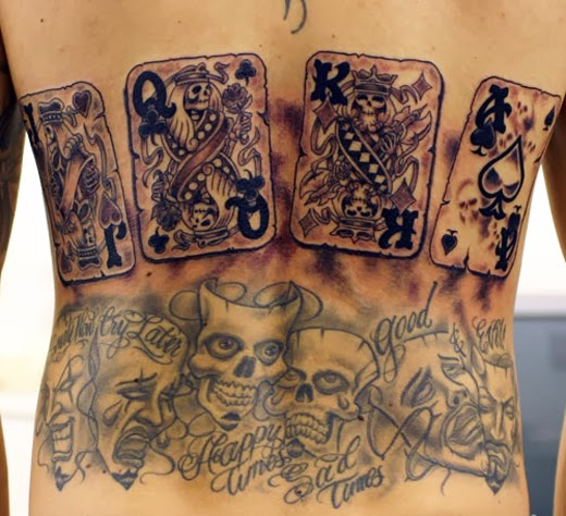 Tattoo Gallery For Men Card Tattoo Designs And Card Ideas And Designs