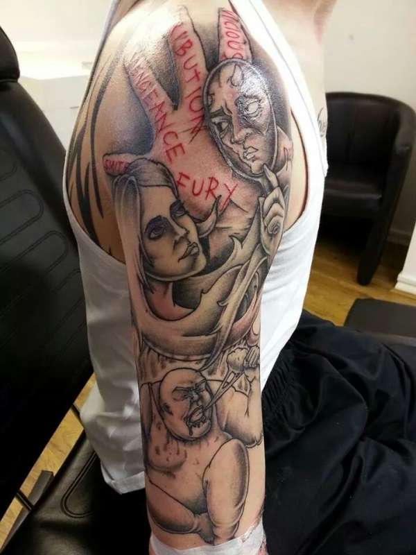 28 Seven Sins Tattoo Ongoing Seven Deadly Sins Sleeve Ideas And Designs