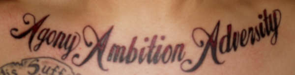 Agony Ambition Adversity Tattoo Ideas And Designs