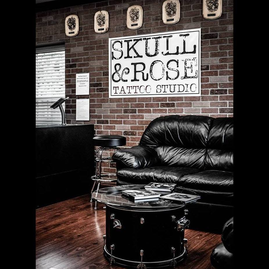 Skull And Rose Tattoo Studio Ideas And Designs