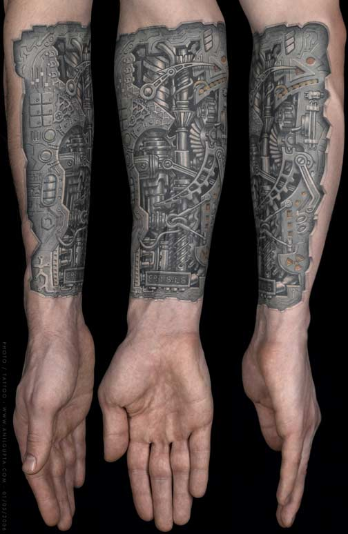 Bio Mechanical Tattoos Photos Images Pictures Ideas And Designs