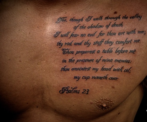 Scripture Tattoos Designs What Does The Bible Say About Ideas And Designs