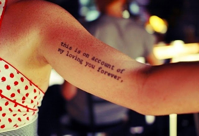 Cool And Cute Arm Quote Tattoos Bicep Tattoo Ideas For Ideas And Designs
