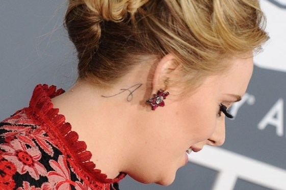 Photos Adele Shows Off New 'Paradise' Tattoo On Her Left Ideas And Designs