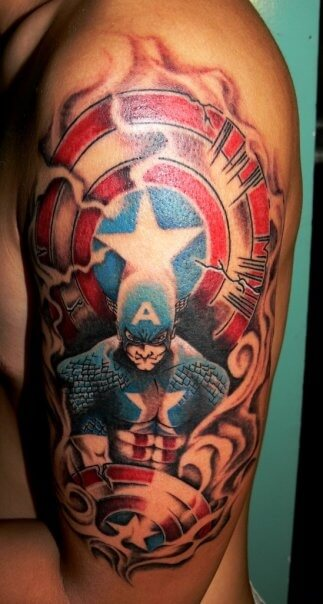 The Ultimate Collection Of Captain America Tattoos Ideas And Designs
