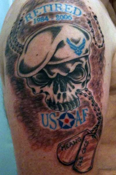 Air Force Skull Military Tattoos Design Ideas And Designs