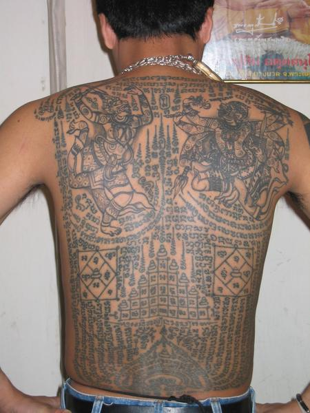 Dashing Full Back Khmer Tattoo Ideas And Designs