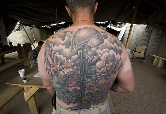 Assignment Angel And Soldier At Back Tattoos Ideas And Designs