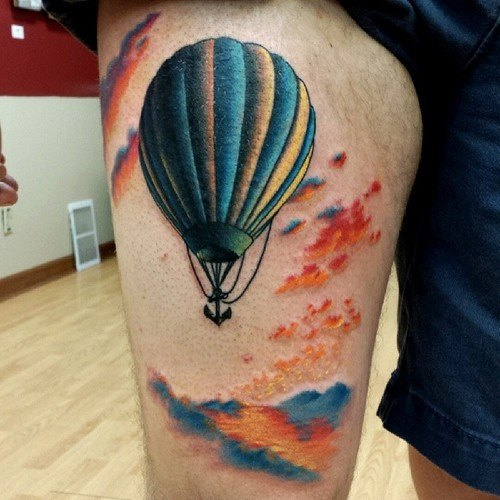 12 Hot Air Balloon Tattoos That You Won't Believe Ideas And Designs