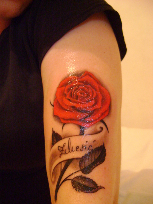 Rose Tattoos Go Classic With Your Flower Tattoo Designs Ideas And Designs