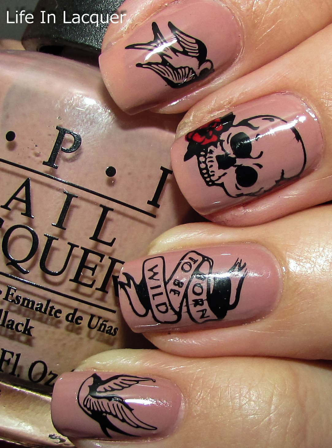 Life In Lacquer Born To Be Wild Tattoo Inspired Nail Ideas And Designs