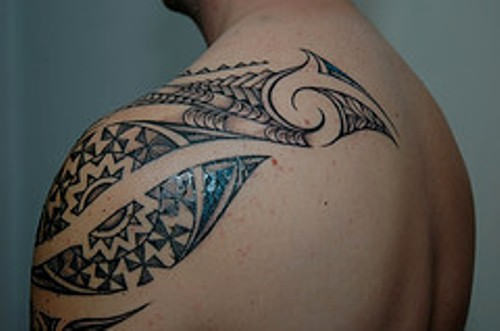 Biomechanical Tattoo On Shoulder Ideas And Designs