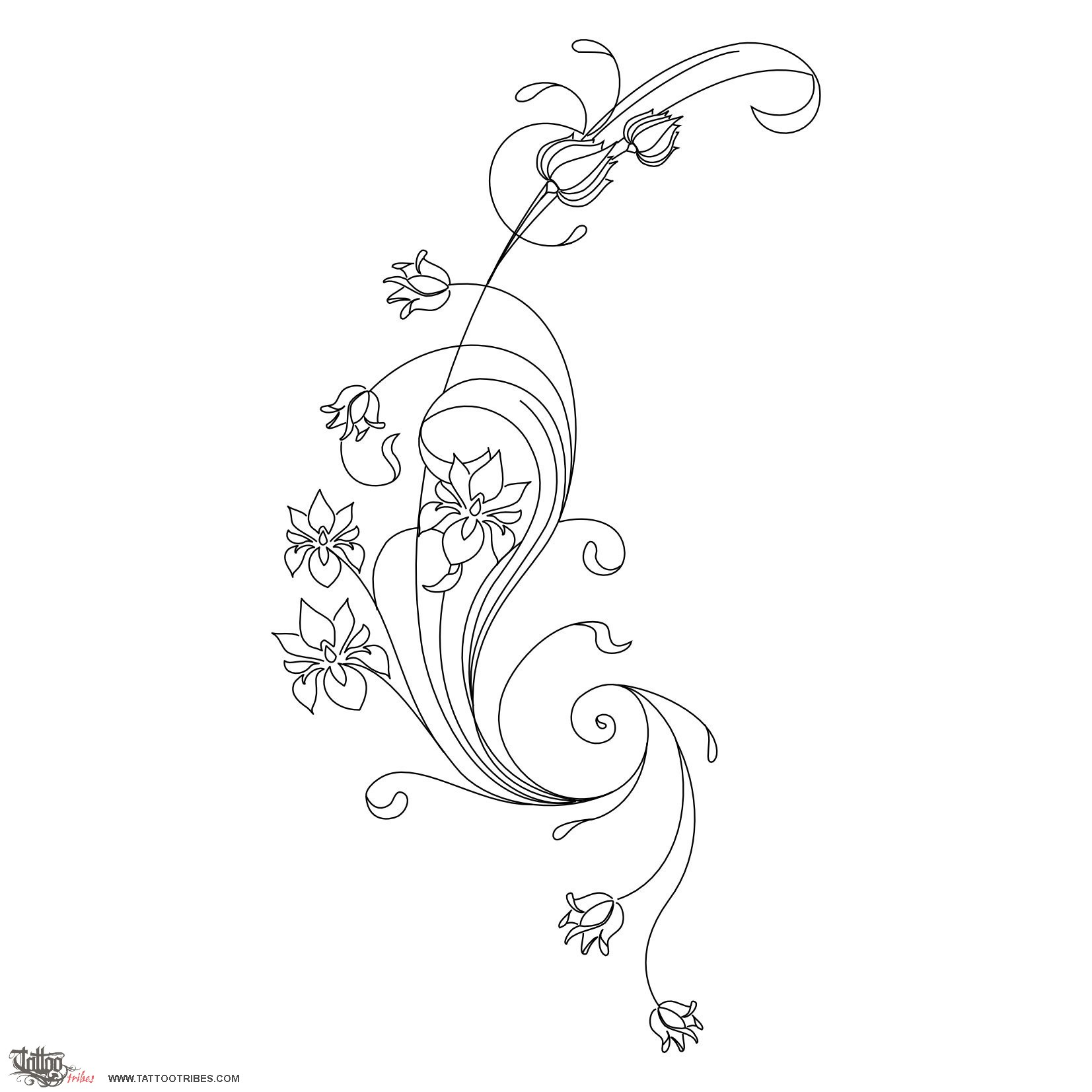 Tattoo Of Art Nouveau Flowers Beauty Passion Tattoo Ideas And Designs