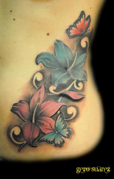 Flower Side 3D Tattoo By Seven Arts Ideas And Designs