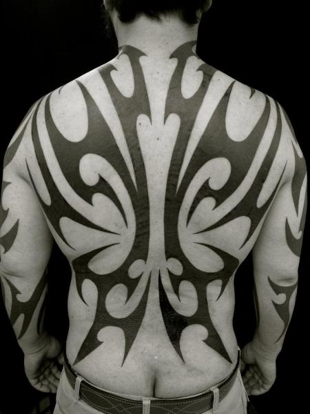 Back Tribal Abstract Tattoo By Apocaript Ideas And Designs