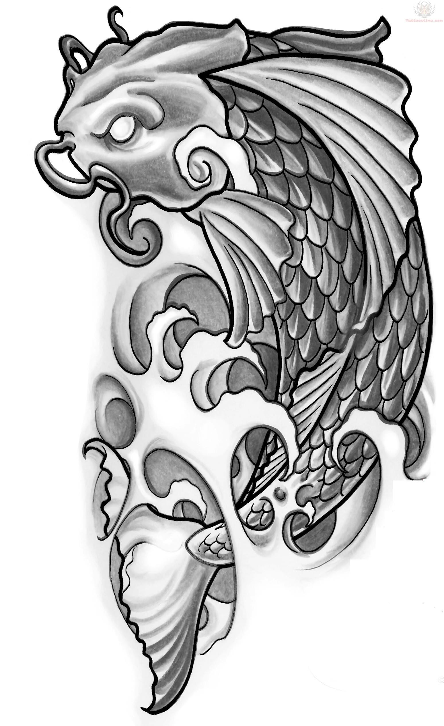 30 Koi Tattoo Design And Displacement Ideas The Xerxes Ideas And Designs