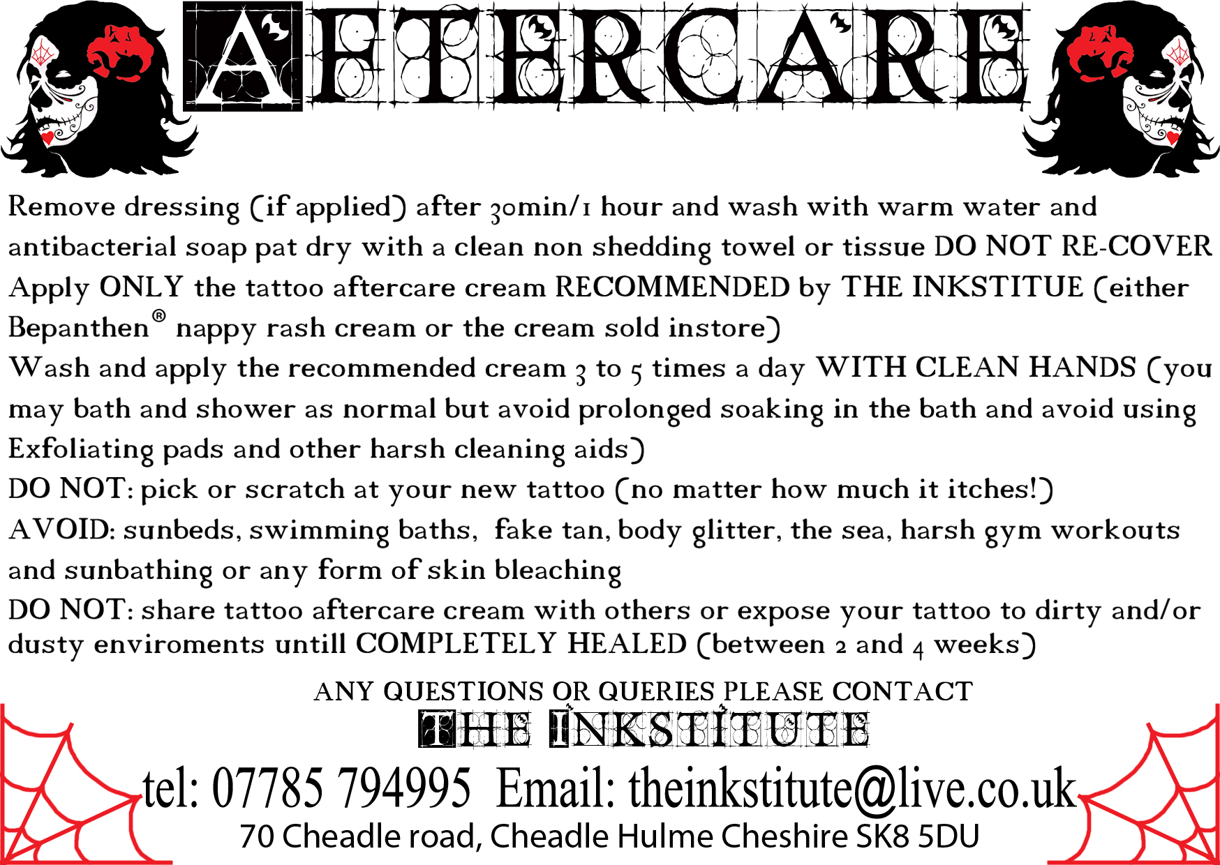 Tattoo After Care Advice Manchester Tattoo Studio Ideas And Designs