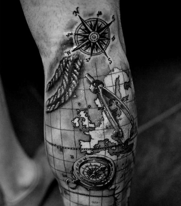 Creative Map Tattoos For The Traveling Type Ideas And Designs