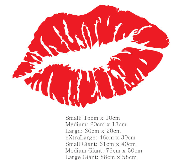 Lips Sticker Decal S*Xy Luscious *R*T*C Kiss Car Boat Ideas And Designs