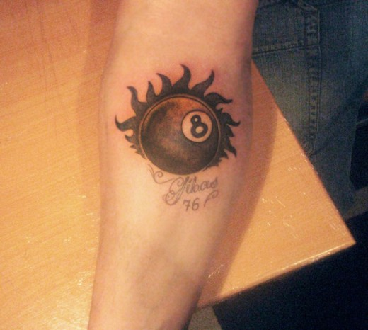 22 Round Up Of 8 Ball Tattoo Designs Ideas Sheplanet Ideas And Designs