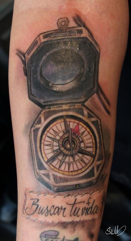 Captain Jack Sparrow Compass Tattoo By Marvin Silva Tattoos Ideas And Designs