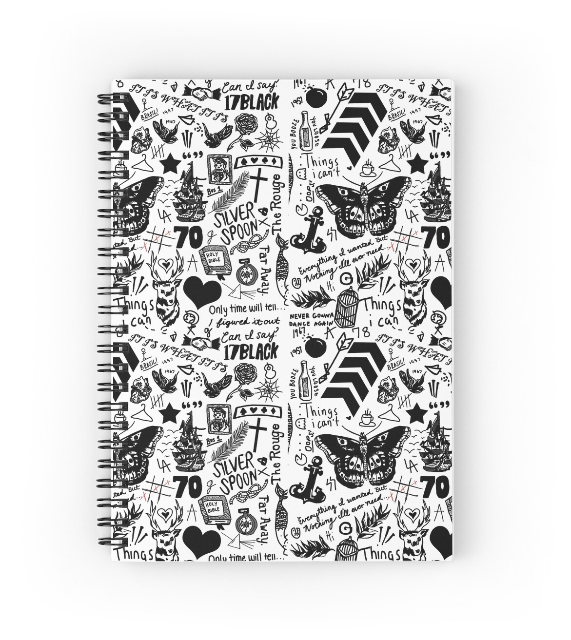 1D Tattoos 2015 Spiral Notebooks By Eliannadraws Redbubble Ideas And Designs