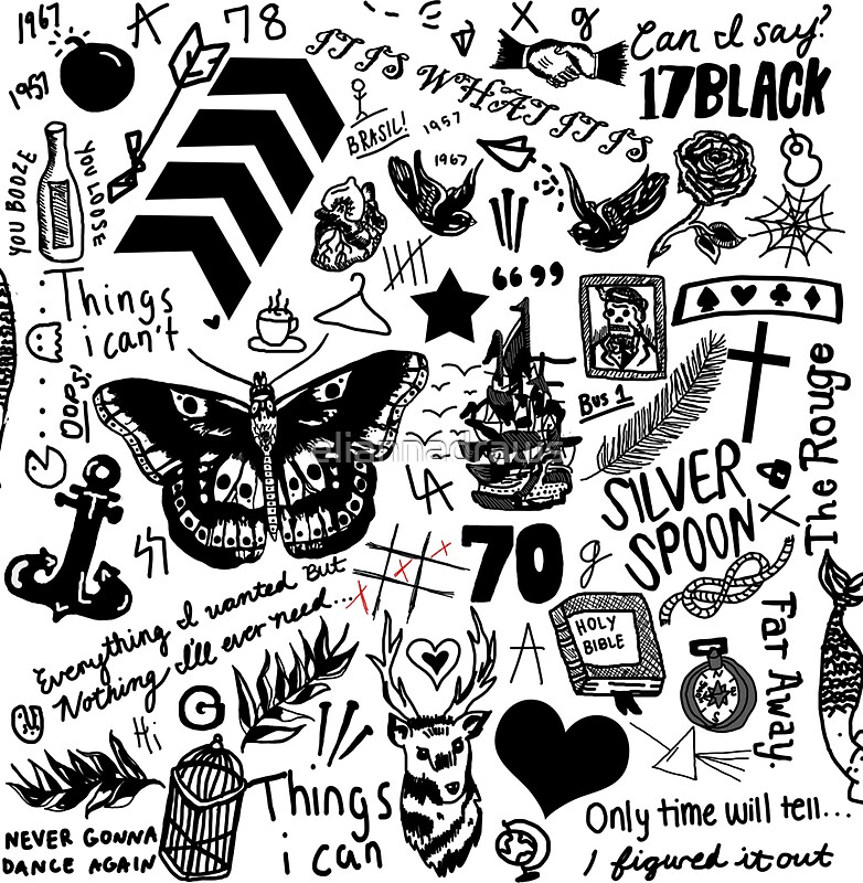 1D Tattoos Updated 2015 Stickers By Eliannadraws Ideas And Designs
