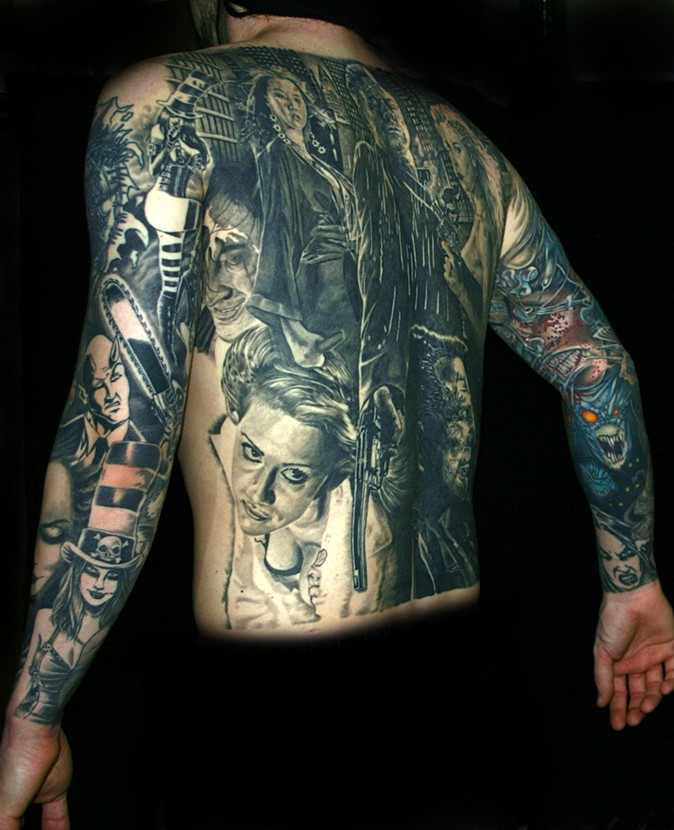 8Th Day Tattoo Sin City Back Piece Ideas And Designs