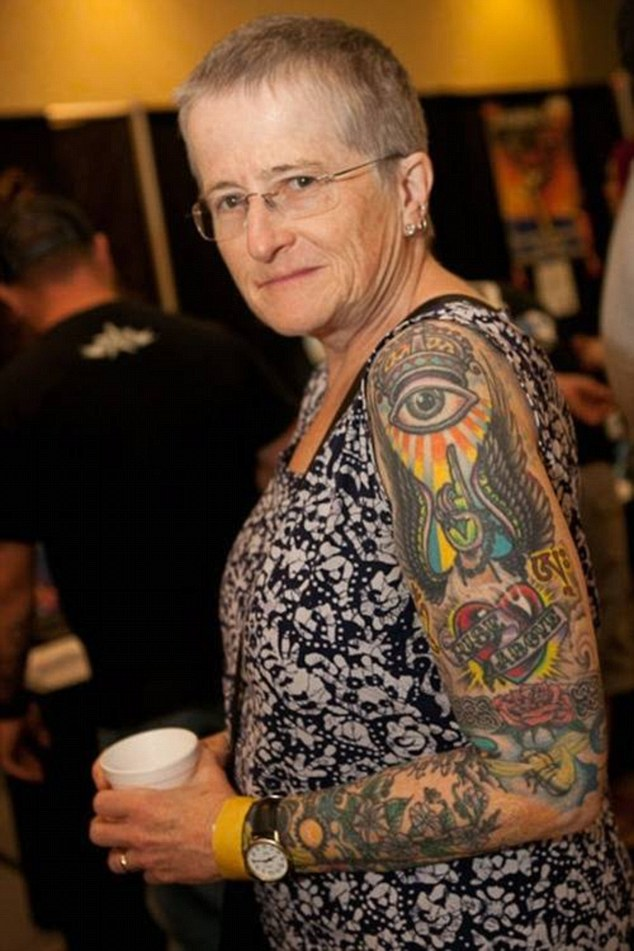 Pensioners Show Off Skin Covered In Tattoos Daily Mail Ideas And Designs