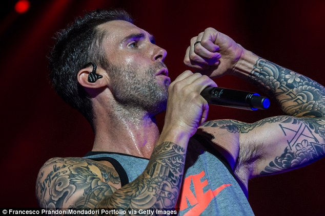 Adam Levine Shares Photo Of Winged Mermaid With Skull Back Tattoo Daily Mail Online Ideas And Designs