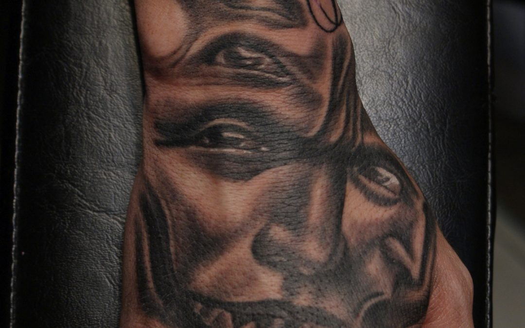 Evil Face Hand Tattoo Ybor City 1603 Tattoo Tampa Josh Ideas And Designs