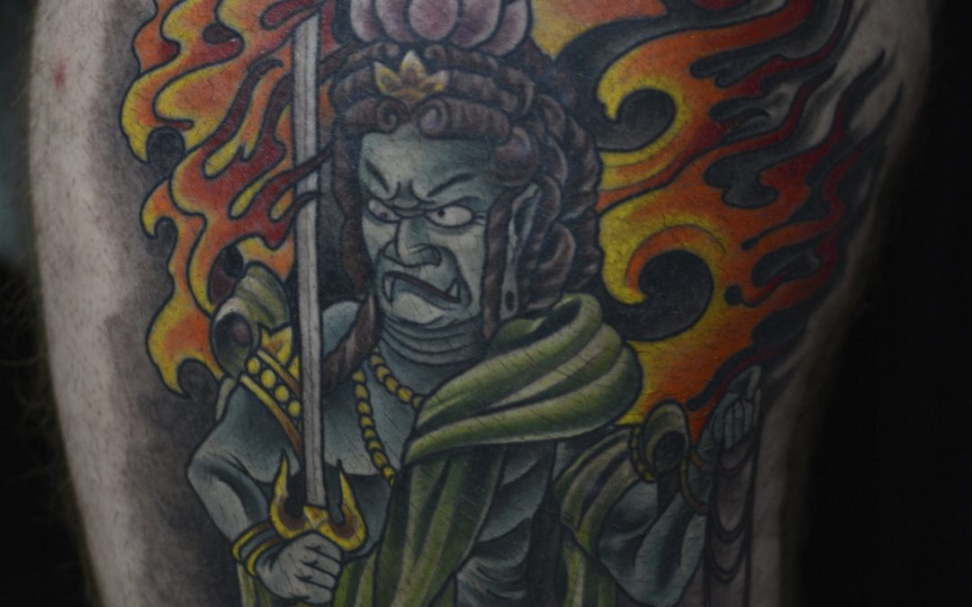 Japanese Fudo Myoo Tattoo Ybor City 1603 Tattoo Tampa Ideas And Designs