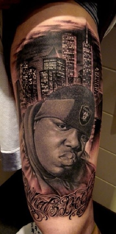 Some Of The Most Awesome Rap Inspired Tattoos Biggie Forever Ideas And Designs