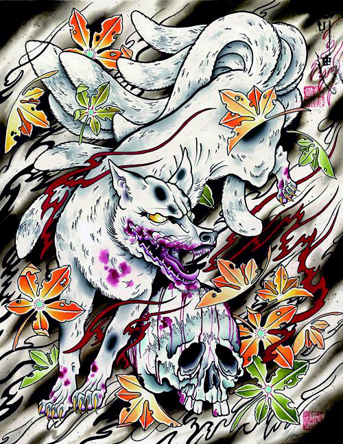 Crystal Morey Kyubi No Kitsune Nine Tailed Fox Tattoo Ideas And Designs