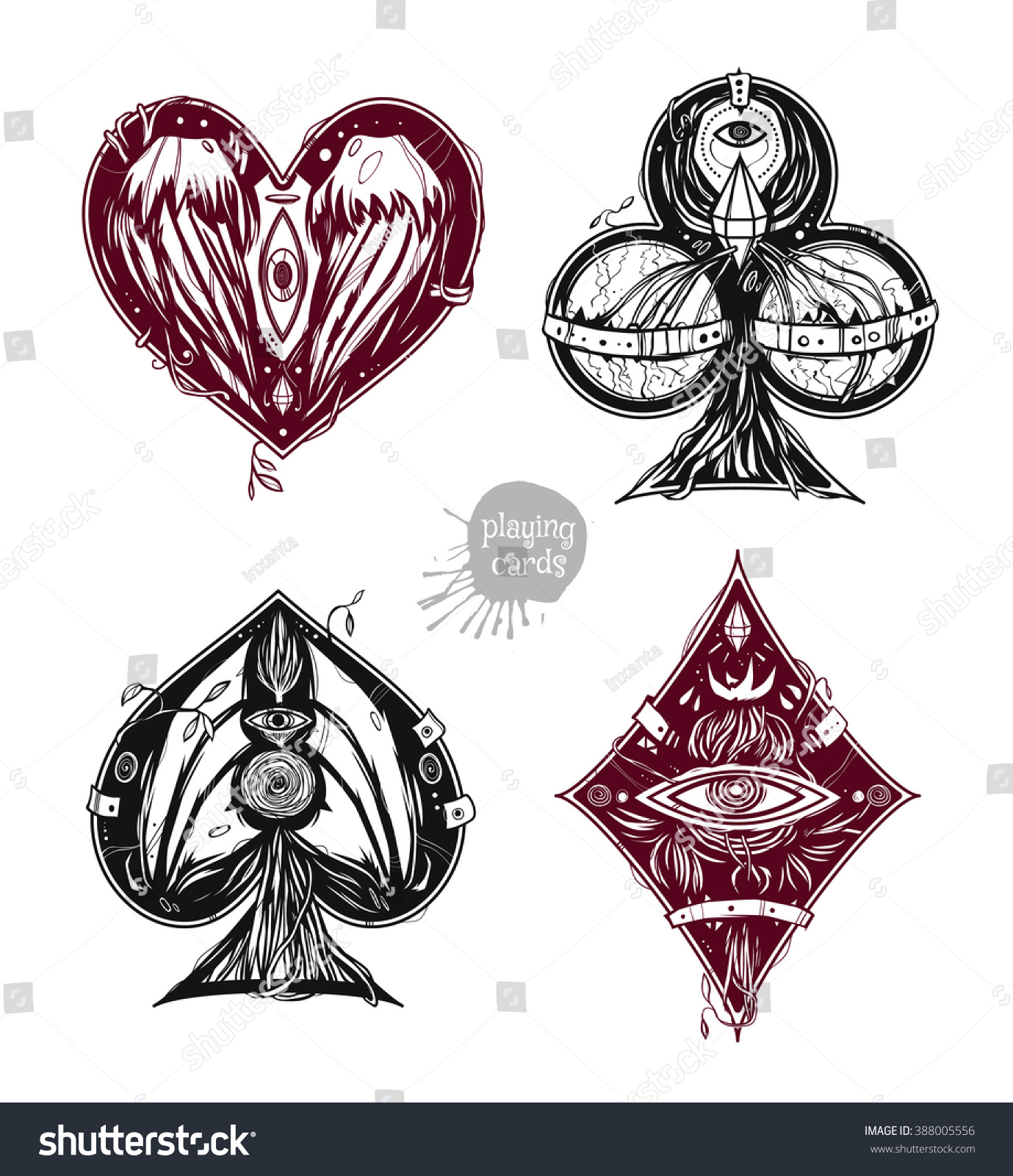 Design Card Suits Clubs Diamonds Hearts Stock Vector Ideas And Designs
