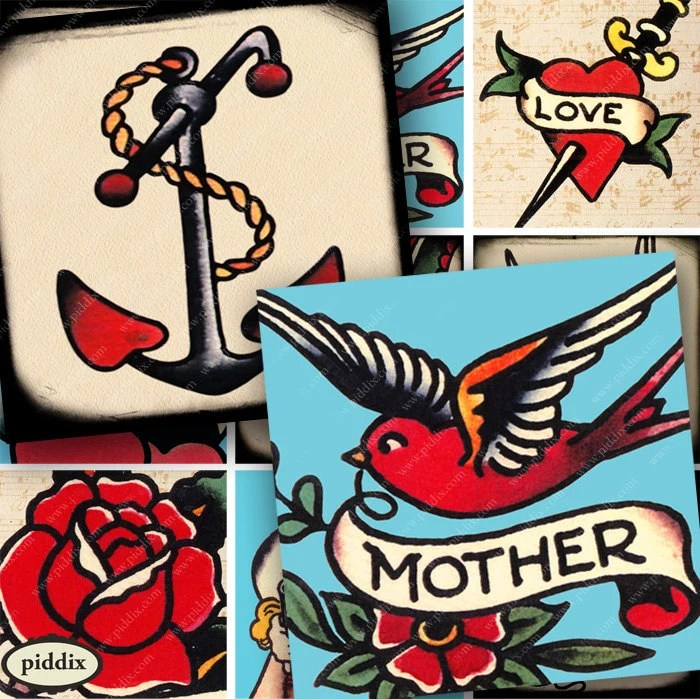 Vintage Sailor Anchor And Swift Tattoos Birds Mom Mother Ideas And Designs