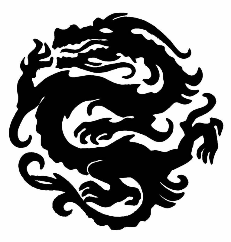 Dragon Stencil For Airbrush Tattoo Craft Art Ebay Ideas And Designs